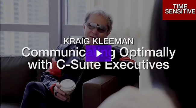 Communicating Optimally with C-Suite Executives